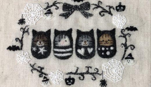 【ハロウィンの額飾り】ゴースト,オバケかぼちゃのリース・羊毛フェルト