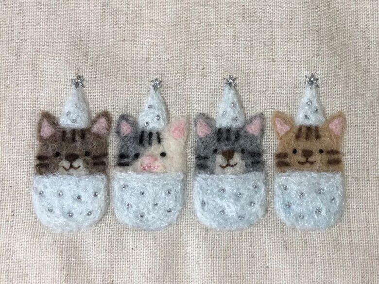 ラメ糸で刺繍