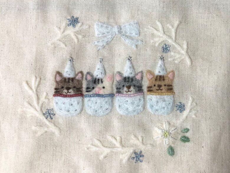 雪の結晶の刺繍
