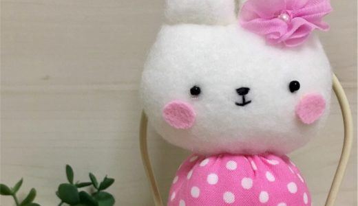 白いウサギのぬいぐるみ①・パーツ作り