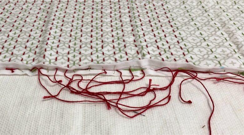 2列の刺し子糸