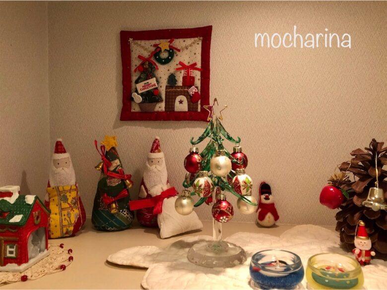 クリスマスの飾り付け・ツリー&キャンドル&タペストリー