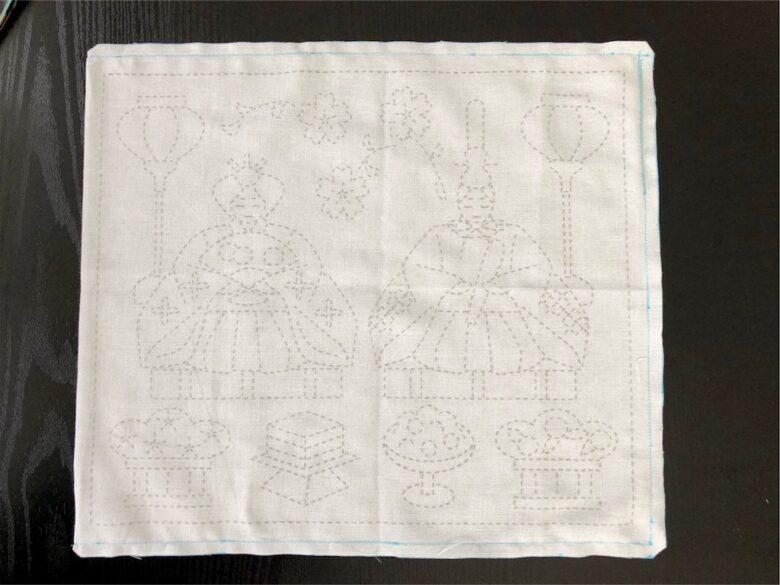 花ふきん縫い代の始末の方法