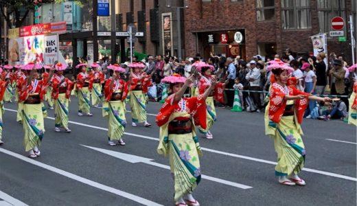 博多どんたく港まつり・華やかな踊りや演奏のパレード