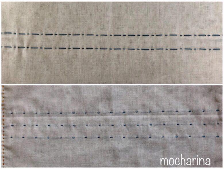 縫い目の違い