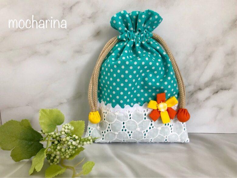 カラフルなお花の巾着袋・手縫いで作る5つのこだわり