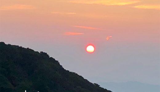 真っ赤な太陽が美しい!宝満山山頂から見た御来光