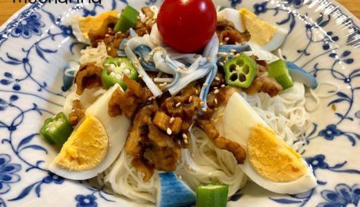 夏季限定「サラダスティックソーダ味」でぶっかけ素麺・そうめんのゆがき方