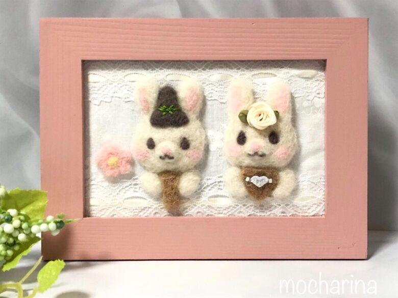 白ウサギちゃんのひな祭り・額飾り