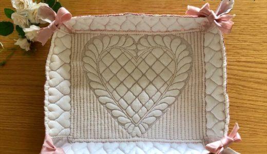 南フランスの伝統技法ブティ、和プリントを使った布トレイ